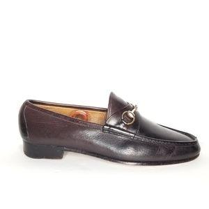 GUCCI Vintage Horsebit Brown Loafers